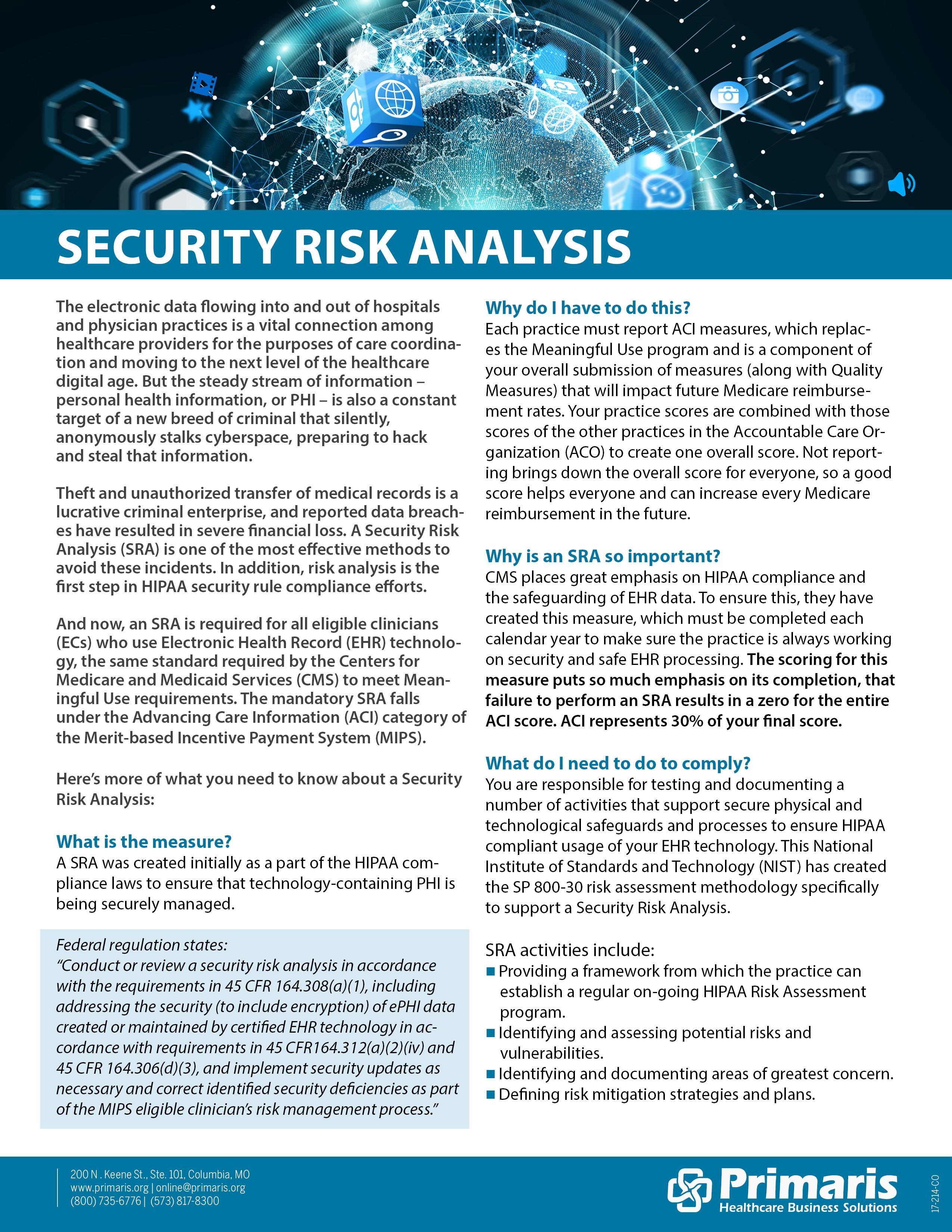 Primaris Security Risk Analysis