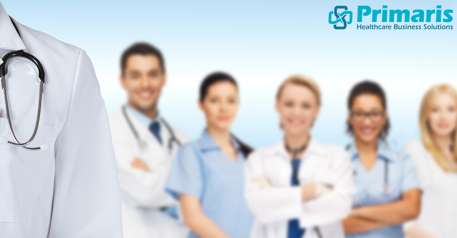 Lineup of healthcare providers illustrates a winning quality reporting team.
