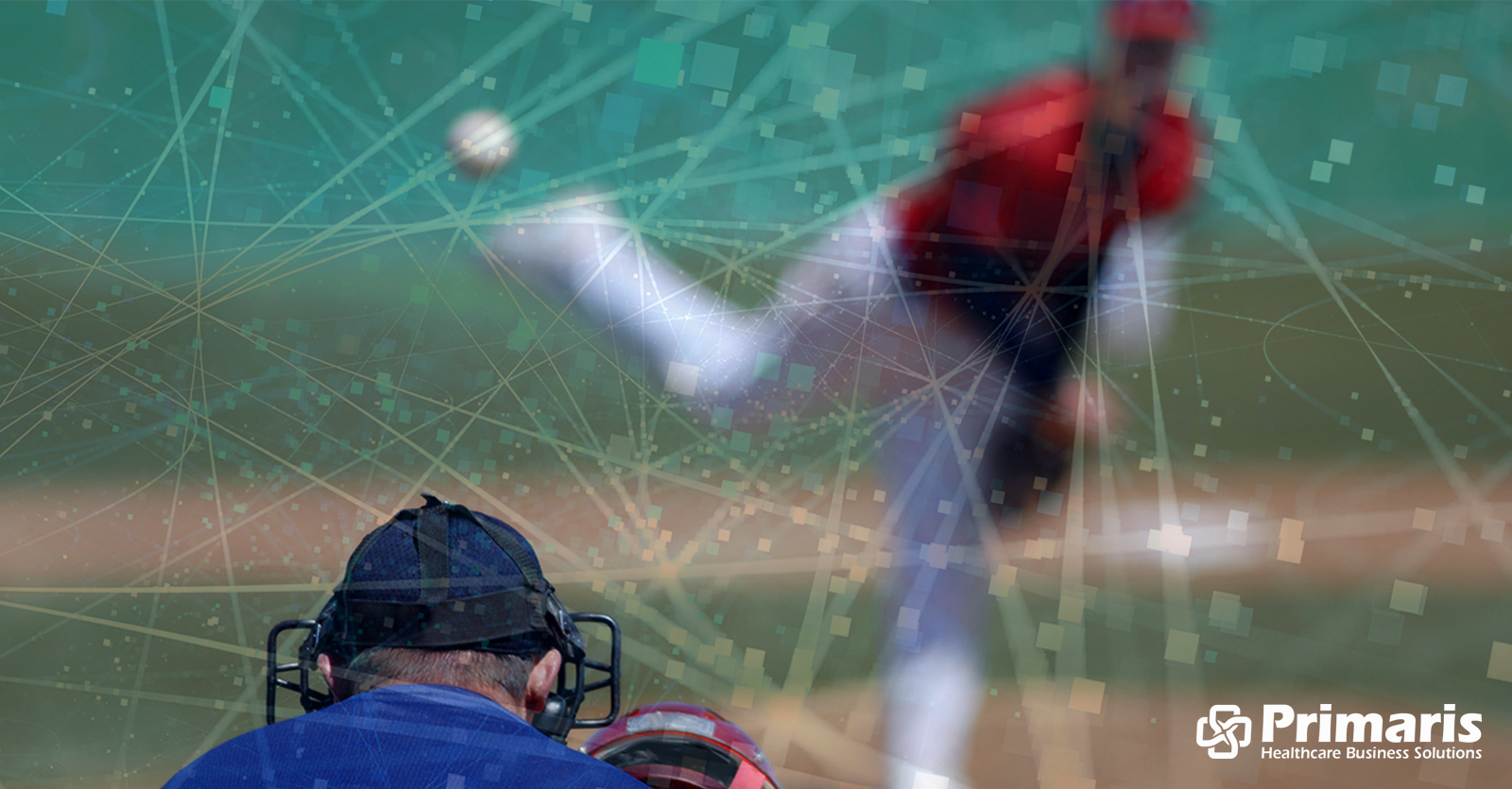 Baseball pitcher throwing the ball to the plate illustrates the flood of data coming at healthcare organizations and providers as a result of the emphasis on value-based care.