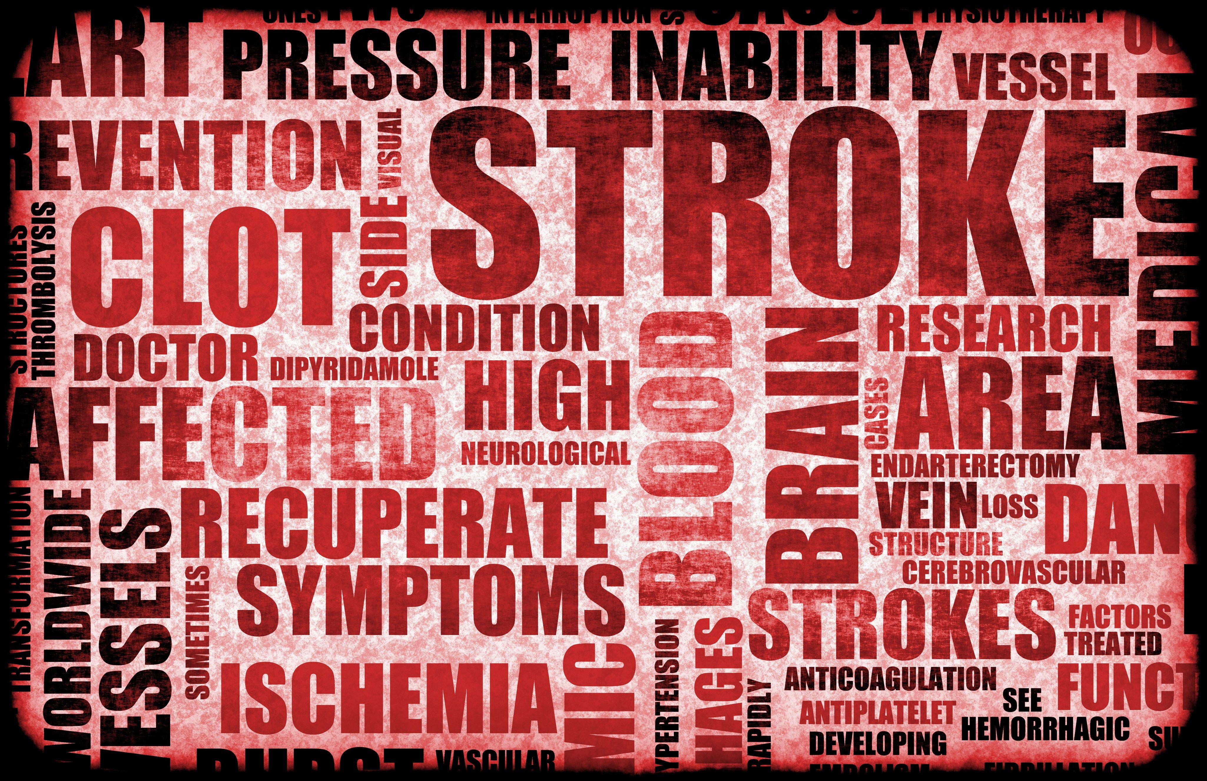 Reddish sign showing the words stroke, brain, clot | healthcare news | Primaris