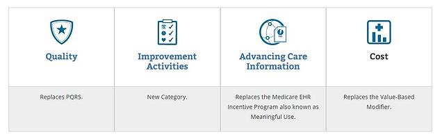 MIPS is made up of four categories: quality, advancing care information, improvement activities, and cost.