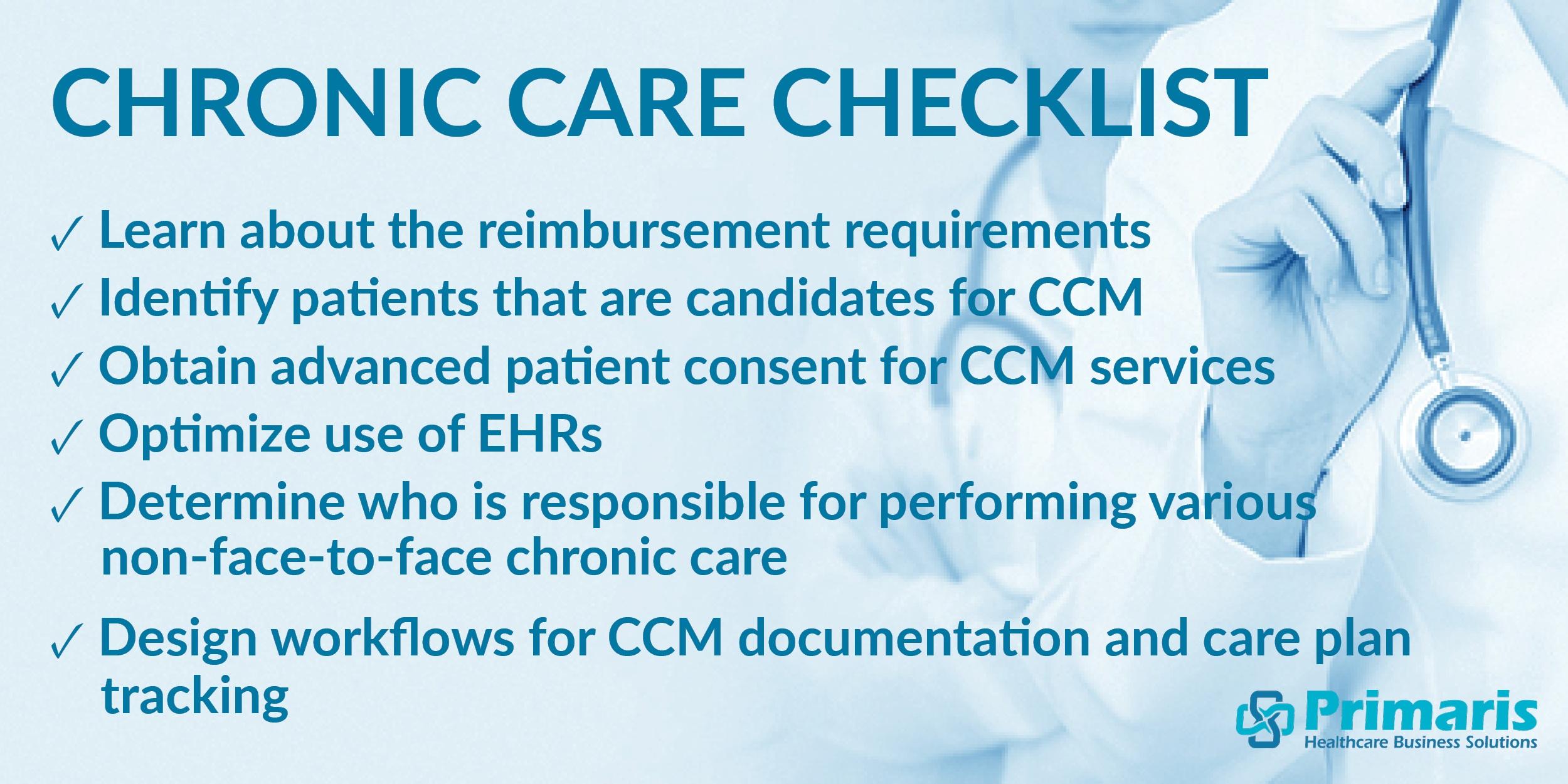 Primaris' Chronic Care Management Checklist