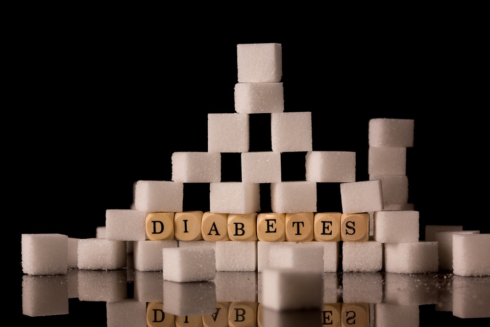Sugar cubes stacked on black background to illustrate announcement that Diabetes Awareness Day will take place from 10 a.m. to 1:30 p.m. Nov. 14 in Hearing Room 7 of the Capitol Building, 201 W. Capitol Ave., in Jefferson City.