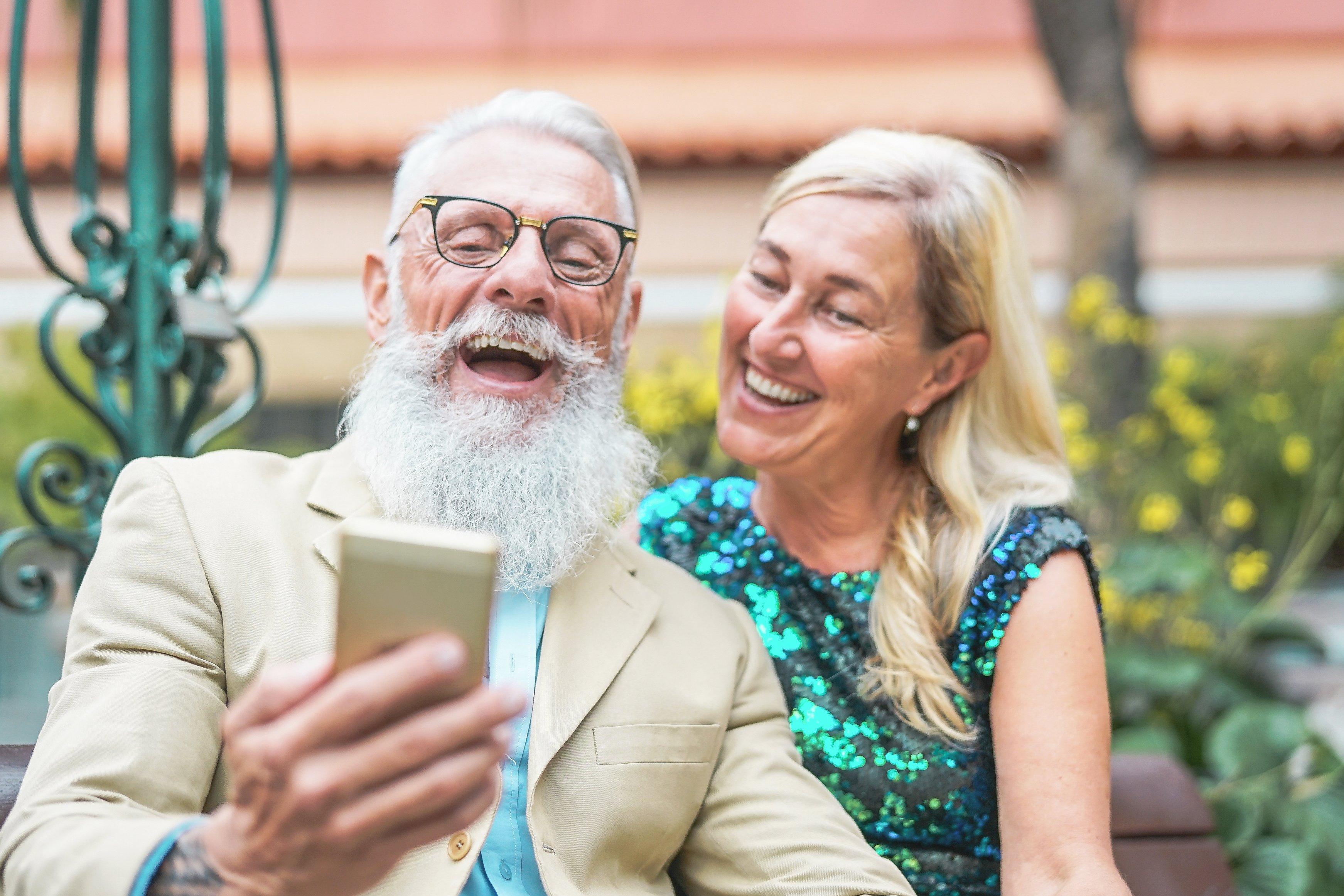 senior social media